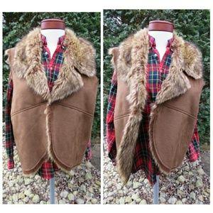 Chico's Jackets & Coats - Chico's Trending Faux Fur Luxe Suede Vest Plus